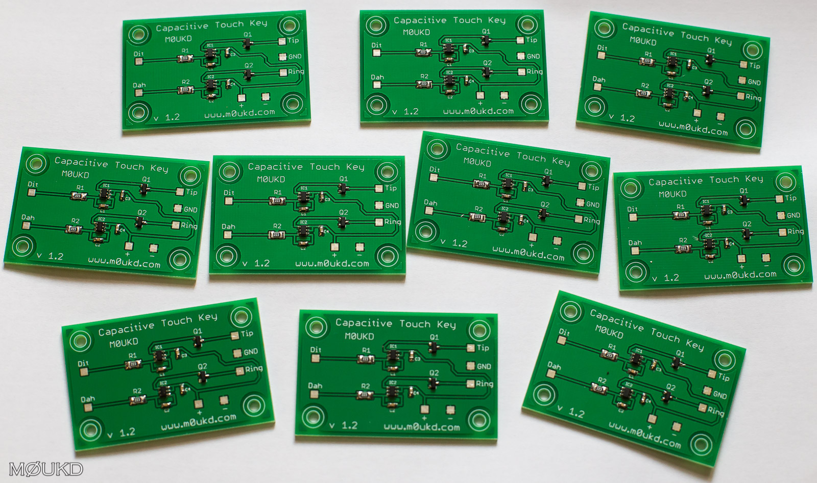 New capacitive touch key boards