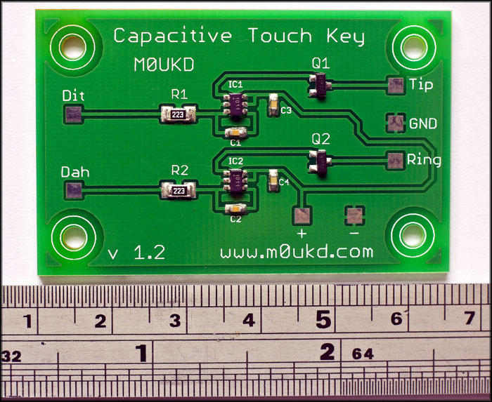 Capacitive CW Touch Key Circuits