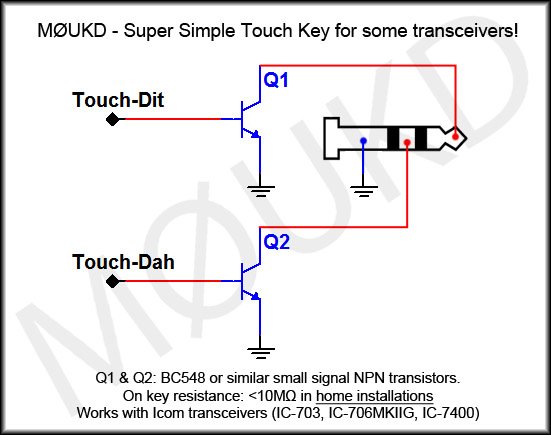 Super simple touch key circuit