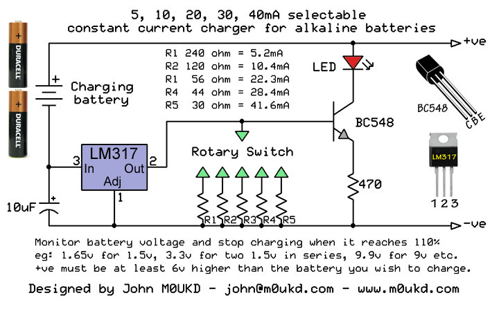 Alkaline Battery Charging Circuit on battery charger circuits schematic