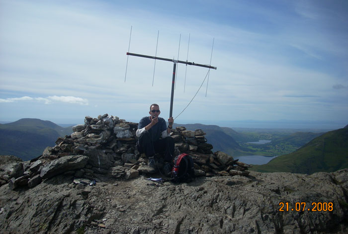 John, M0UKD operating on FM with the beam orientated vertically. Summit is Robinson.