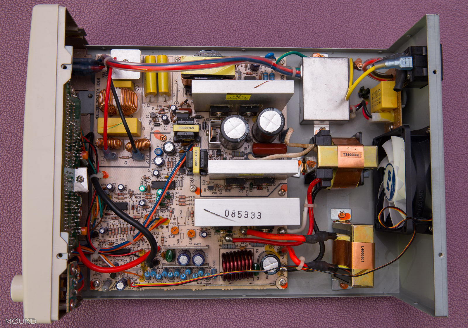 Inside the power supply