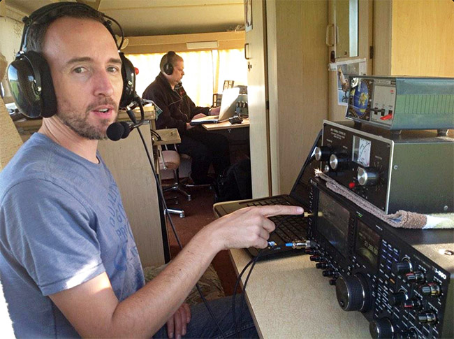 M0UKD operating on 15m in the 2014 CQWW contest