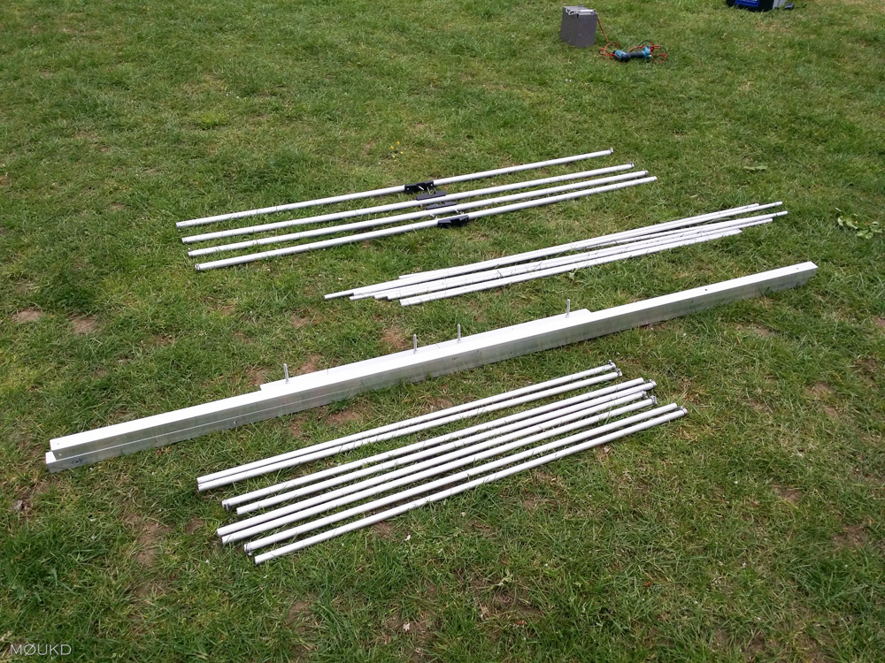 The 15m Yagi - Disassembled.