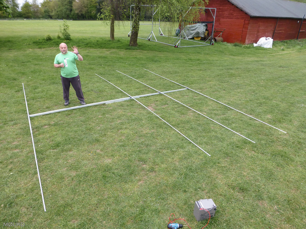 The almost completed 15m Yagi.