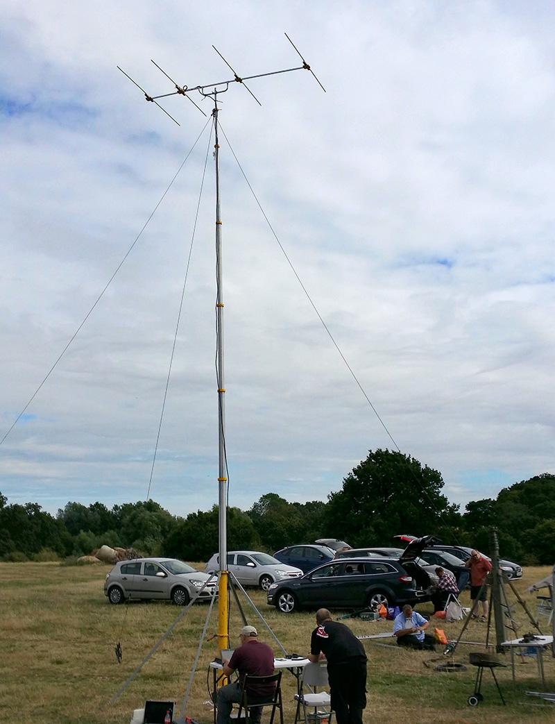 70MHz DK7ZB Yagi on mast