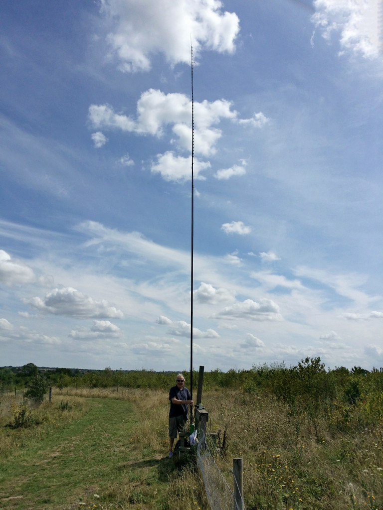 The 70MHz slim jim on 10m pole