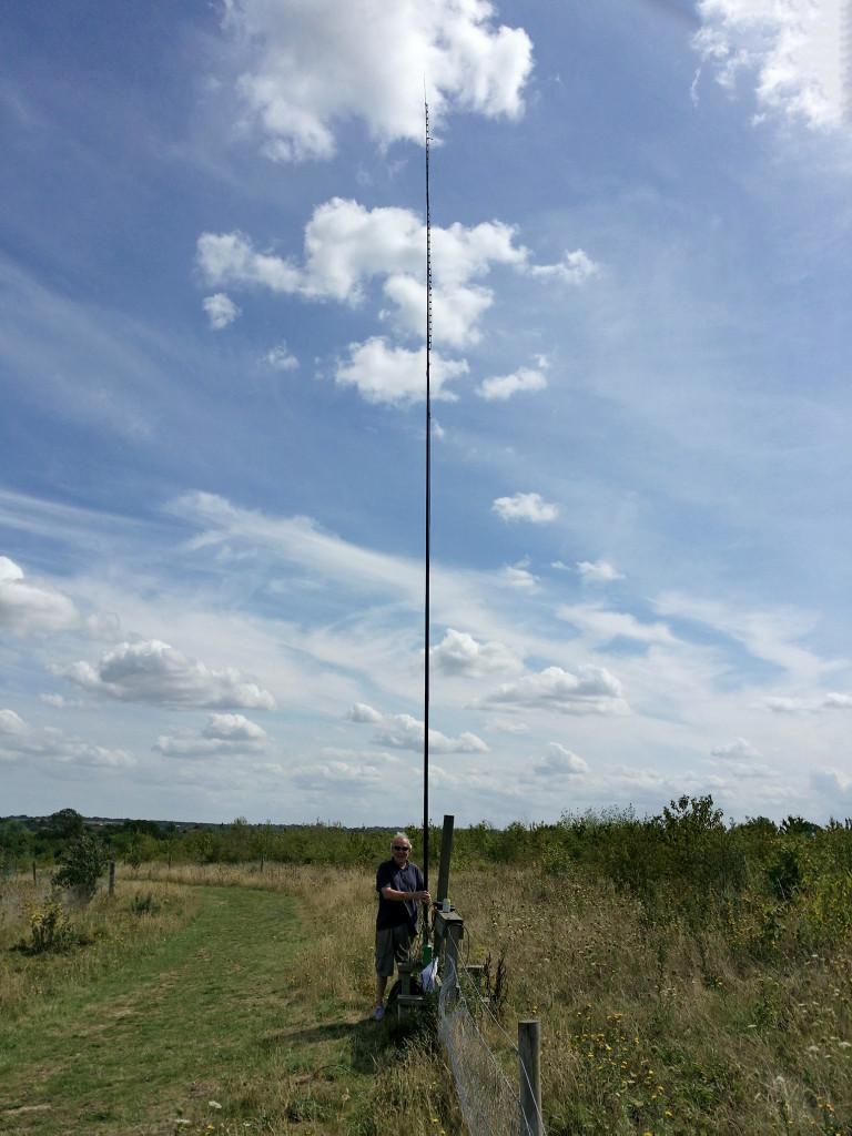 The 70MHz slim jim on 10m pole