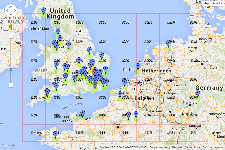 5th Backpackers 2015 QSO map